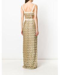 Latest Collections applique gown - Metallic Alberta Ferretti Manchester g9FUCXI