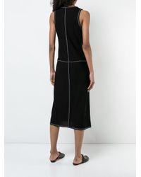 Derek Lam Black Asymmetrical Tank Dress