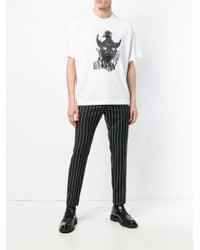 メンズ Diesel Black Gold Teorial-m5 Tシャツ White