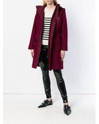 Parka oversize con capucha Karl Lagerfeld de color Red
