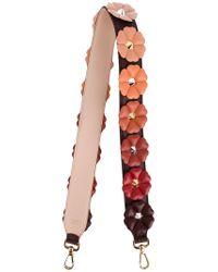 da8d5647238c Lyst - Fendi Flower Embellished Strap You in Red