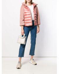 Chaqueta acolchada con capucha Herno de color Pink
