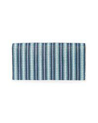 Diane von Furstenberg Blue Woven Stripe Wallet