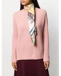 Ferragamo プリント スカーフ Pink