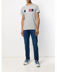 Tommy Hilfiger T-Shirt mit Logo-Print in Gray für Herren