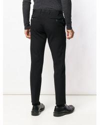 PT01 Black Slim-fit Trousers for men