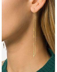 Eshvi - Metallic Fang Chain Drop Earrings - Lyst