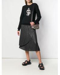 Плиссированная Юбка С Эффектом Металлик Karl Lagerfeld, цвет: Gray
