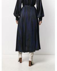 Erika Cavallini Semi Couture ゼブラ プリーツスカート Multicolor