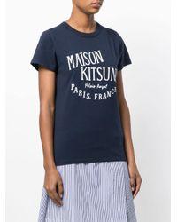 T-shirt Palais Royal di Maison Kitsuné in Blue