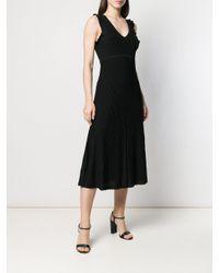 Vestito smanicato svasato di MICHAEL Michael Kors in Black