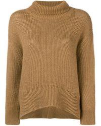 Ermanno Scervino Brown Turtleneck Sweater