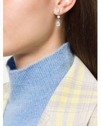 Boucles d'oreilles longues Givenchy Pre-Owned en coloris Multicolor