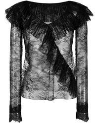 Кружевной Топ С Оборками Philosophy Di Lorenzo Serafini, цвет: Black