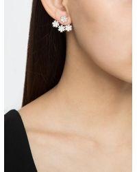 Yvonne Léon - Metallic Diamond Flower Stud Earring - Lyst
