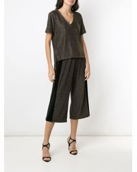 Pantalon crop à effet métallisé Olympiah en coloris Black