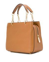 Petit sac à à plaque logo MICHAEL Michael Kors en coloris Brown