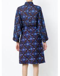 Andrea Marques Blue Shirt Style Bodysuit
