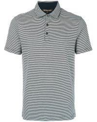Michael Kors Blue Striped Polo Shirt for men