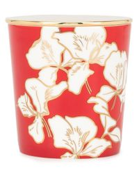 Shanghai Tang Red Ginger Flower Bone China Scented Candle