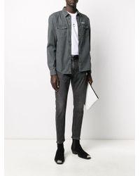 Camisa con parche del logo Zadig & Voltaire de hombre de color Gray