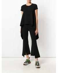 Stella McCartney Black Compact Knit Handkerchief T-shirt