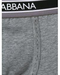 Dolce & Gabbana - Gray Branded Boxer Briefs for Men - Lyst