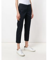 Peserico - Blue Concealed Front Trousers - Lyst