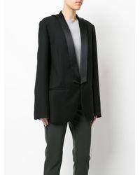 Dion Lee Black Lapel Tie Blazer