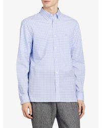 Burberry - Blue Gingham Shirt for Men - Lyst