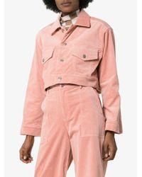 Ganni Ridgewood クロップド コーデュロイジャケット Pink