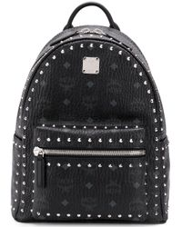 MCM Studded Stark Backpack Black