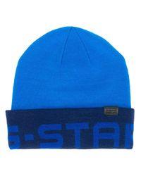 Berretto con logo di G-Star RAW in Blue da Uomo