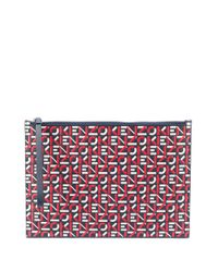 KENZO ロゴ クラッチバッグ Red