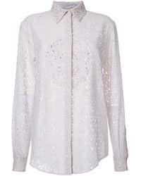Stella McCartney White Floral Lace Shirt