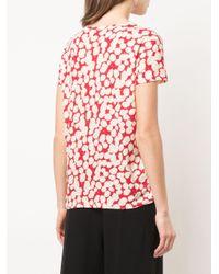 Proenza Schouler Red Gepunktetes T-Shirt