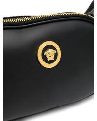 Sac banane à plaque logo Versace pour homme en coloris Black