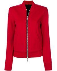 Unravel Project Red Trainingsjacke im Scuba-Look