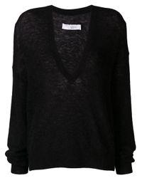 IRO Black V-neck Sweater
