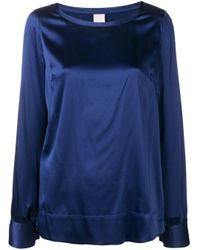 Pinko Blue Classic Longsleeved Blouse
