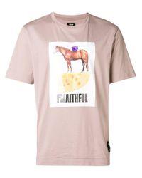 Camiseta Faithful Fendi de hombre de color Pink