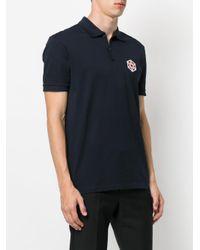Lanvin - Blue Patch Polo Shirt for Men - Lyst