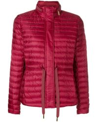 b007bc37bd8 MICHAEL Michael Kors Feather Down Puffer Jacket in Red - Lyst