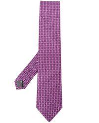 Cravatta Gancini di Ferragamo in Purple da Uomo