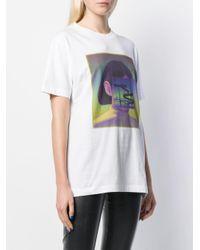 Marcelo Burlon Carousel Square T-shirt White Multicolor