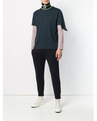 J.W. Anderson Blue Round Neck T-shirt for men