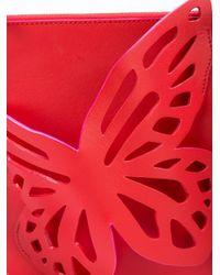Sophia Webster - Red Flossy Butterfly Pouchette - Lyst
