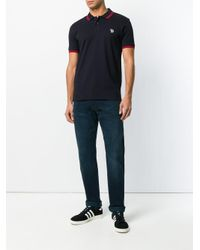 PS by Paul Smith - Blue Embroidered Logo Polo Shirt for Men - Lyst