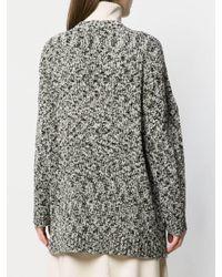 Cardigan long à motif moucheté Loewe en coloris Gray