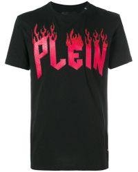 Philipp Plein - Black Plein In Flame T-shirt for Men - Lyst